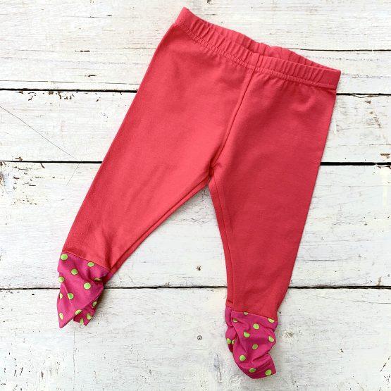 leggings – lazac színű, alul rózsaszín passzéval