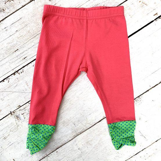 leggings – lazac színű, alul zöld passzéval