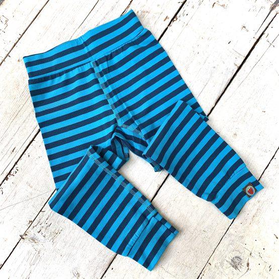 kék csíkos leggings