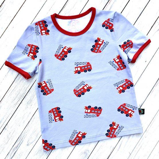 tűzoltós rövidujjú póló