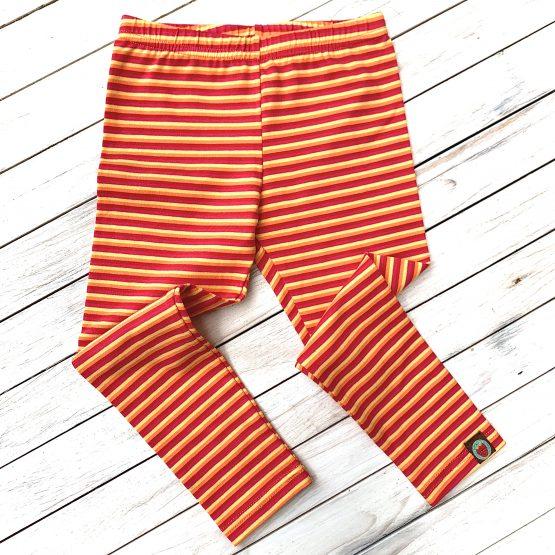 leggings – sárga és narancs csíkos