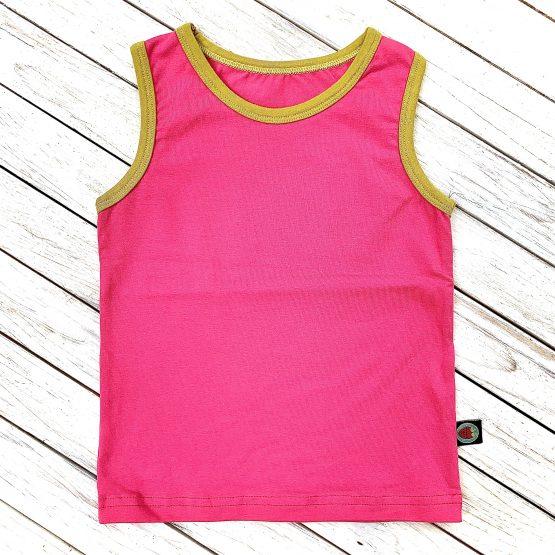 rózsaszín trikó keki passzéval